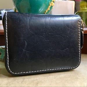 Cute little leather Coach wallet!